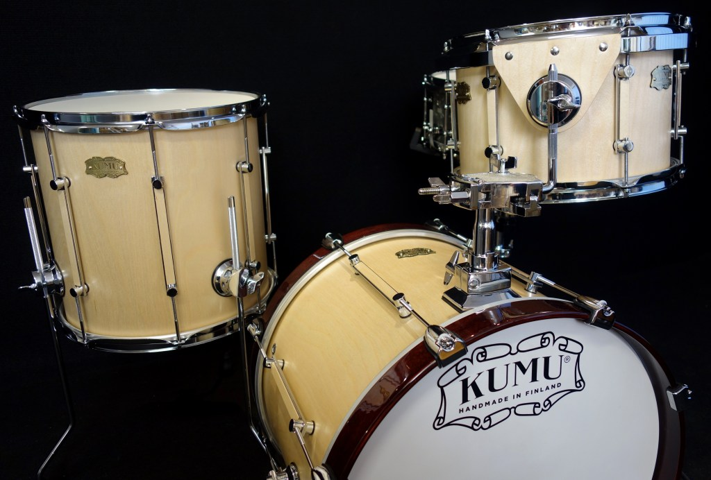 Finland's Kumu Drums with a custom jazz kit in birch with satinsound finish