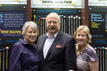 Left to right, Craigie Zildjian, Mike Balter and Debbie Zildjian. Photo courtesy Zildjian