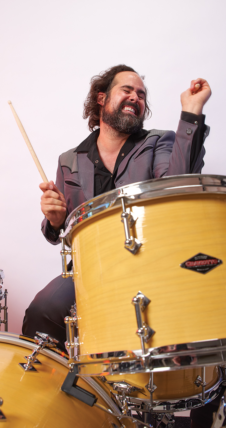 Ronnie playing drums