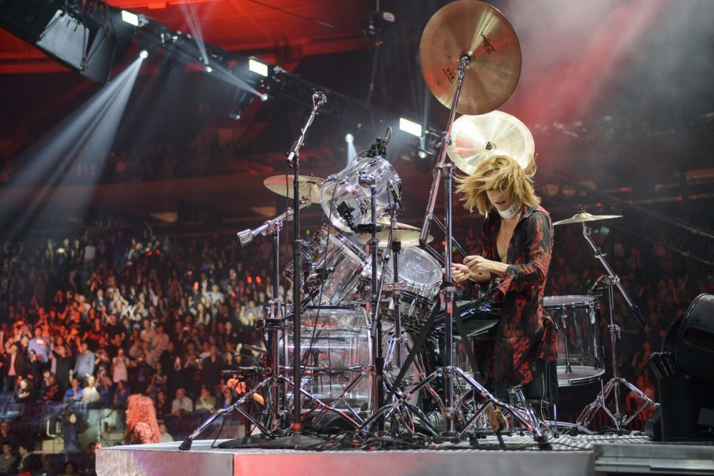 Yoshiki, drummer of heavy metal glam rock band X Japan