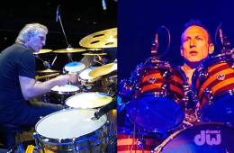 Dave Weckl and Stephen Perkins at the Hollywood Drum Show