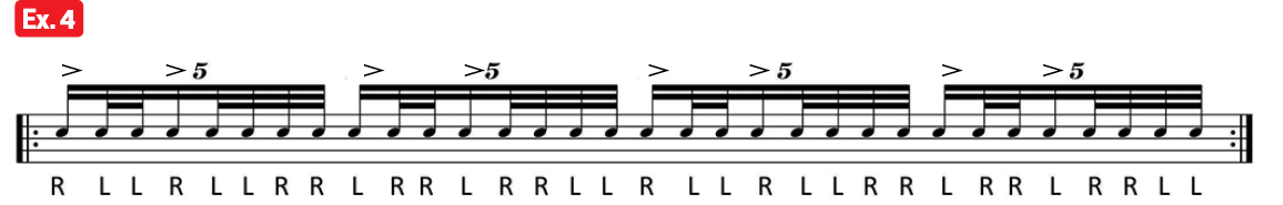 subdivisions transitions in 5 ex4