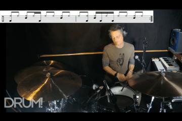 drum lesson sounds on the drum set