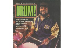 Dennis Chambers 1994 drum magazine cover
