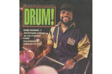 Dennis Chambers 1994 drum magazine cover