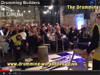 The Drumming Builders performing live at Meldrum Construction corporate event.