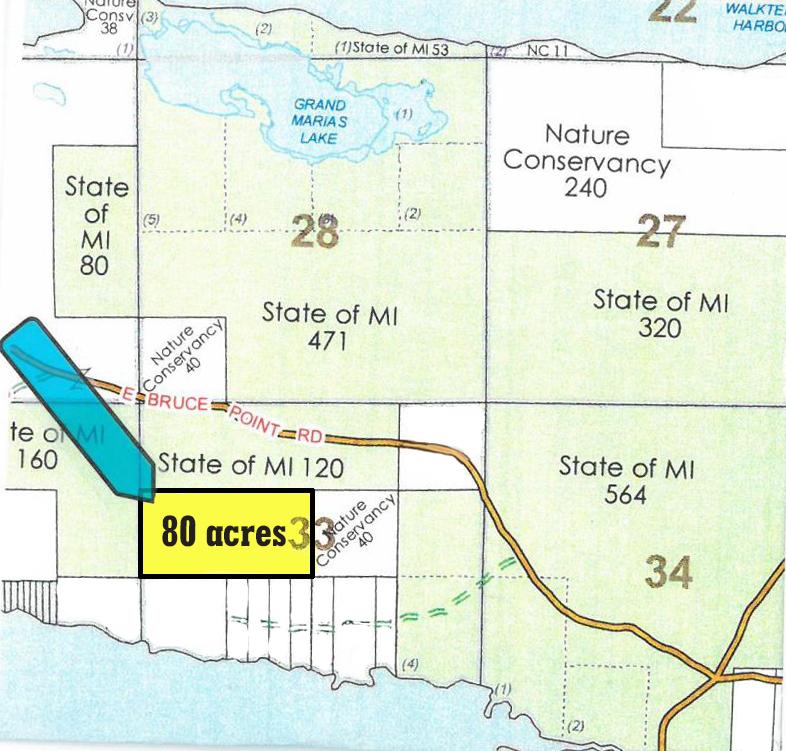 80 acres plat map