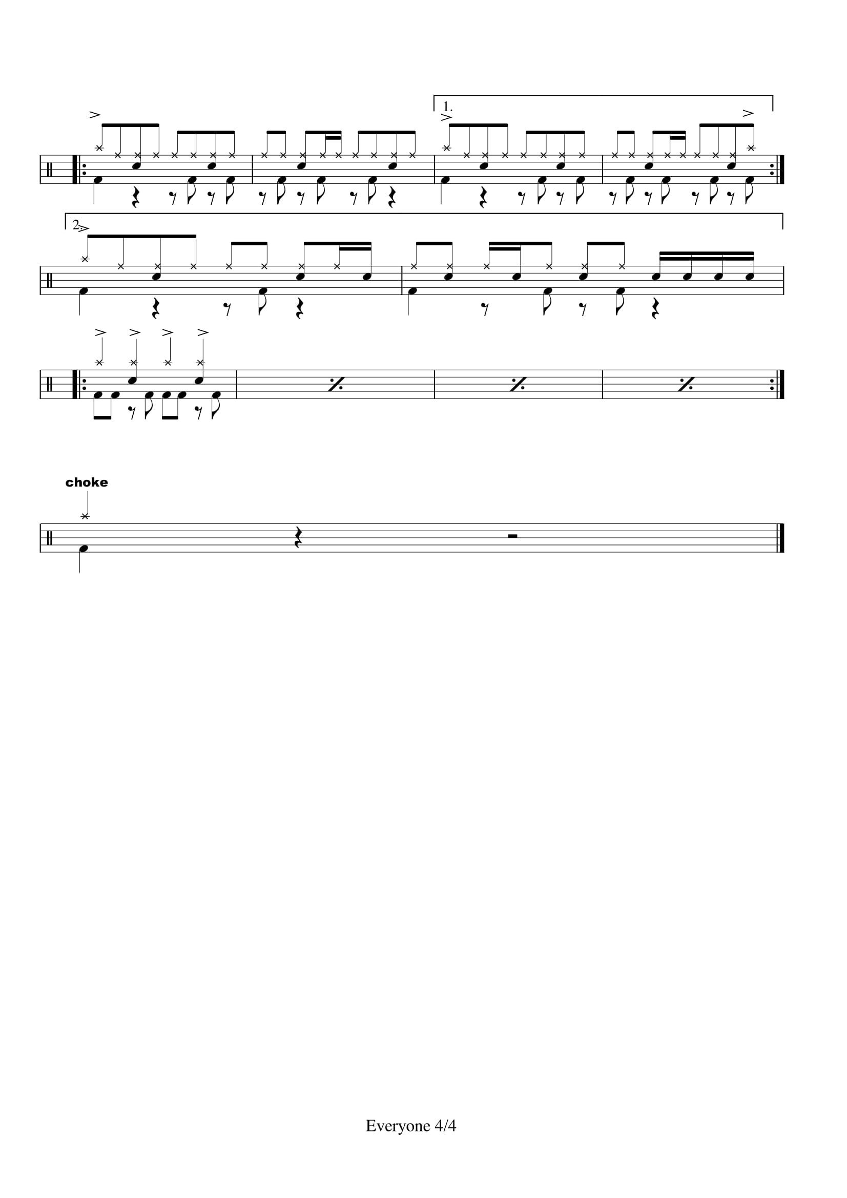 Mr. – Everyone (鼓譜) – Drumpro 鼓譜分享