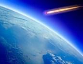 Comet Flying Towards Planet