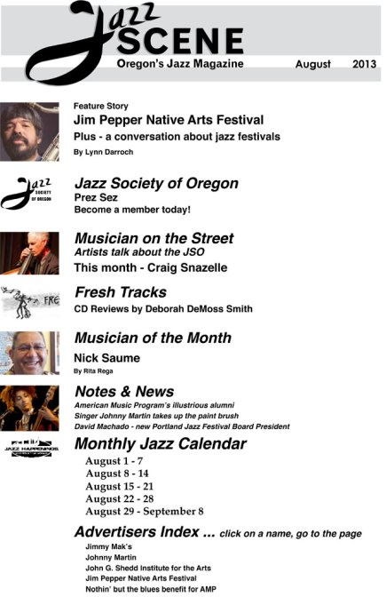 Jazz Scene Magazine Portland Oregon