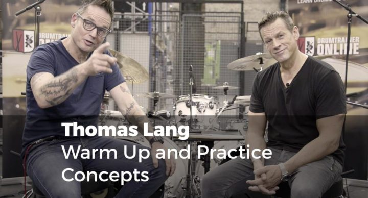 Warm Up & Practice Concepts with Thomas Lang