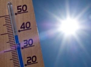 """ARCHIV - ILLUSTRATION - Ein Thermometer zeigt am 19.08.2012 in einem Garten im brandenburgischen Sieversdorf (Oder-Spree) 38 Grad Celsius in der Sonne an. Den Frühling haben viele schon aufgegeben. Kommt jetzt ein heißer Sommer? Foto: Patrick Pleul dpa (zu dpa """"Sommer 2013 - wird er besser als der Frühling?"""" vom 04.04.2013) +++(c) dpa - Bildfunk+++"""