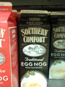 A container of Southern Comfort Traditional Egg Nog