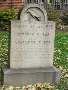 Edgar Allan Poe's grave marker