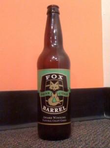 A bottle of Fox Barrel Pear Cider