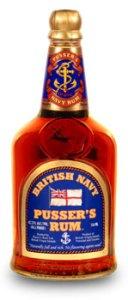 A bottle of Prusser's rum