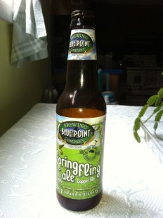 A bottle of Blue Point Brewing Co. Spring Fling Ale
