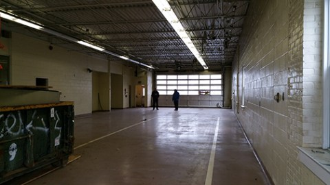Inside the empty 2nd St firehouse where Long Beard Brewing will open its brewery