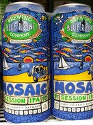 Two cans of Mosaic Session IPA from Blue Point Brewing