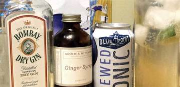 A Brewed Cocktail: Ginger Blue Gin and Tonic
