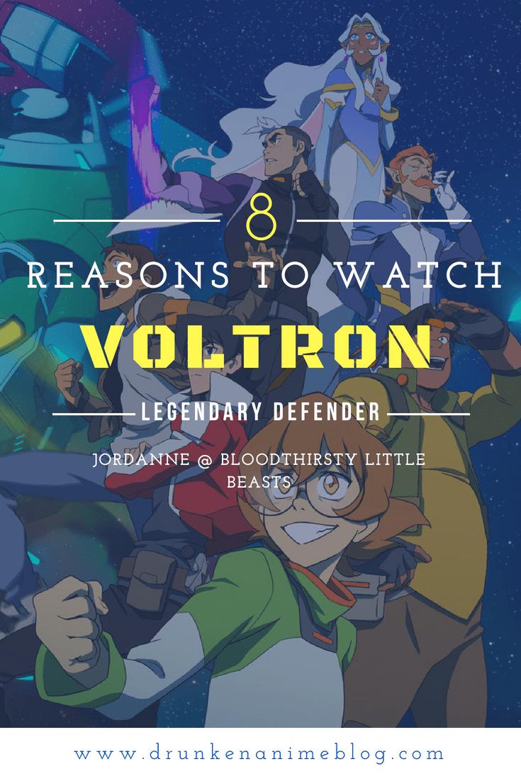 Jordanne @ Bloodthirsty Little Beasts gives 8 Reasons You Should Be Watching Dreamworks' Netflix Show Voltron: Legendary Defender.