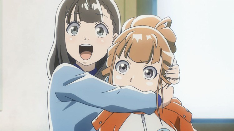 Anime one sided hug
