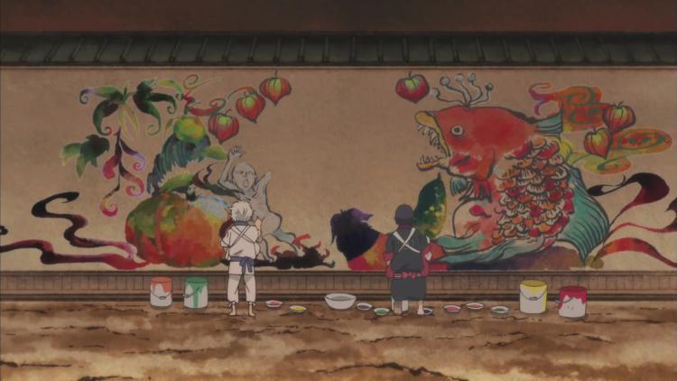 hozuki-no-reitetsu-hoozuki-no-reitetsu-cool-headed-hozuki-hozukis-cool-headedness-painting-mural-nasubi-fish-hell-walls