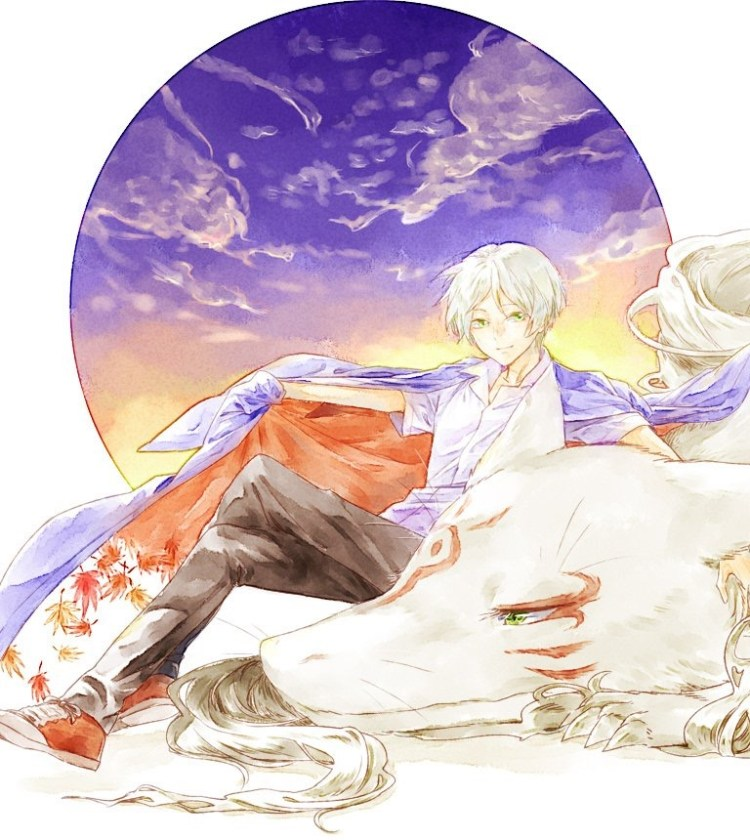 Natsume's Bok of Friends watercolor