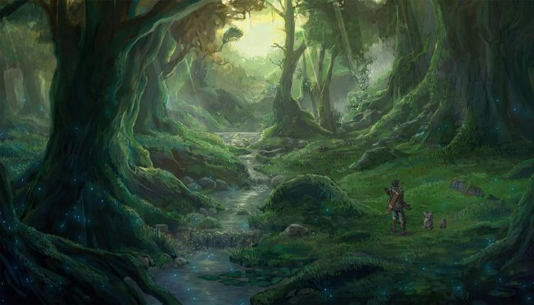 drawn-cave-anime-forest
