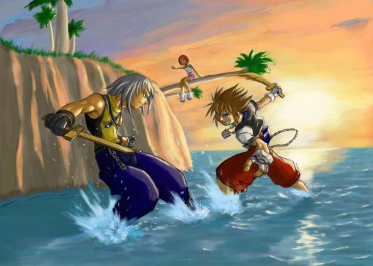 KH-Kingdom-Hearts-Fan-Art-Sunset_Beach___final_by_gts
