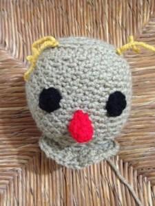 Crocheted Scarecrow head