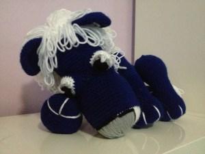 Plush Crochet Blue Lion
