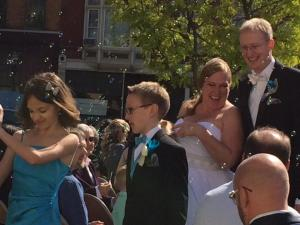 After the ceremony on the recessional.