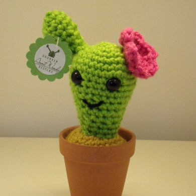 Drunken Aunt Wendy Crocheted Cactus