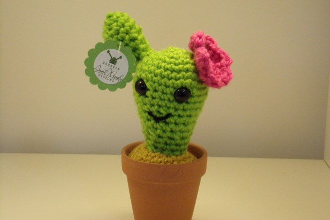 Drunken Aunt Wendy Crocheted Cactus