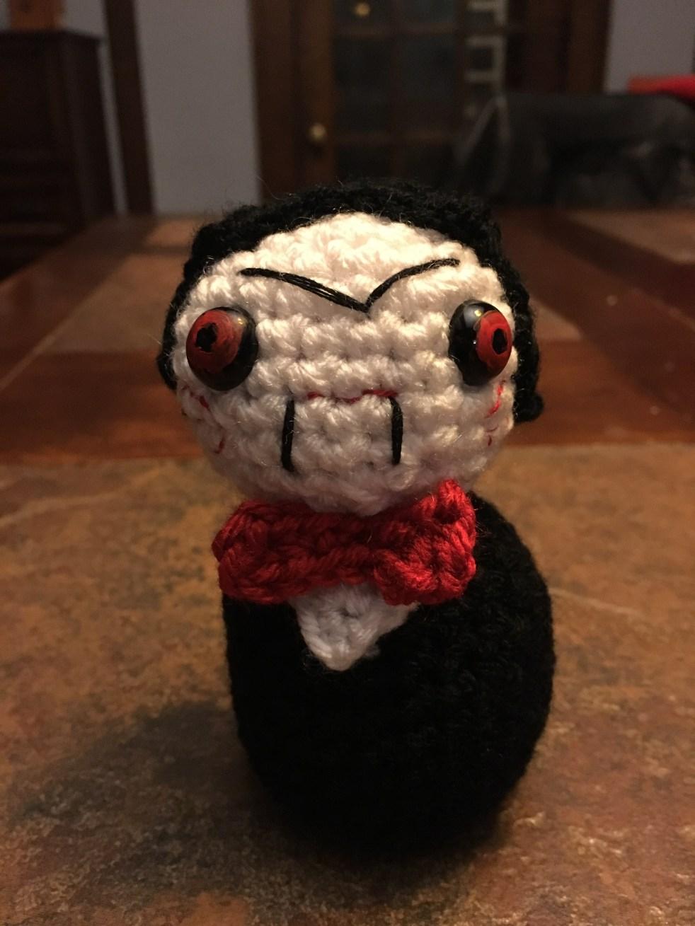 Drunken Aunt Wendy Billy from Saw crochet pattern