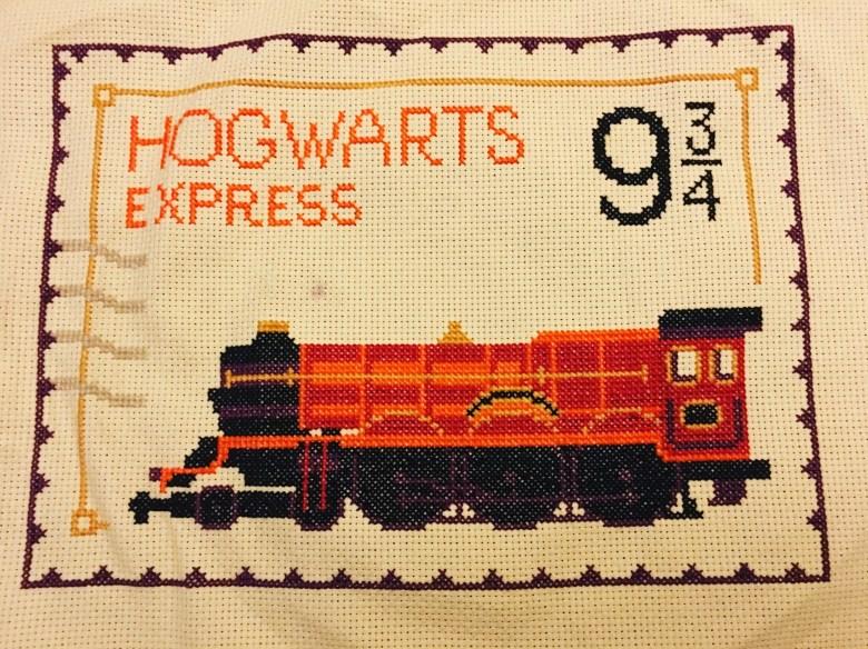 Cross stitch Hogwarts Express