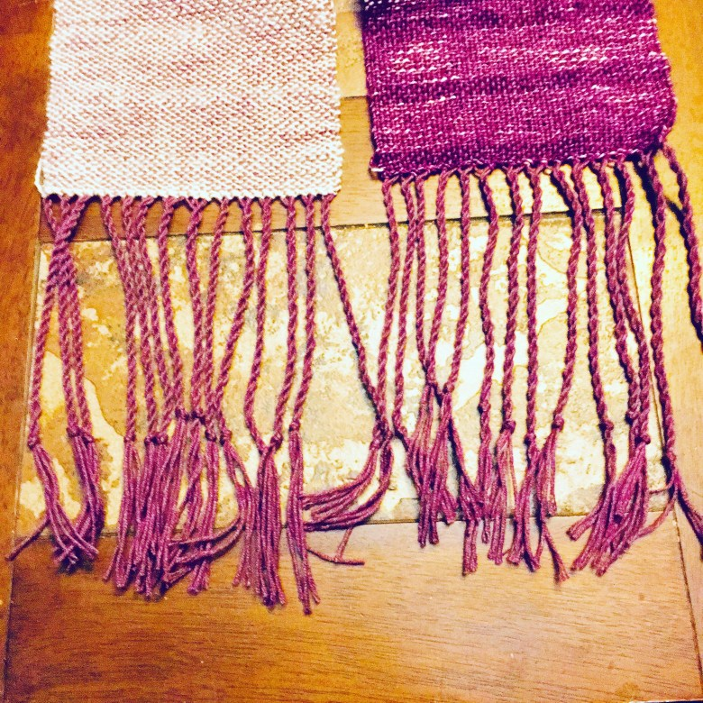 Handwoven scarf - twisted fringe