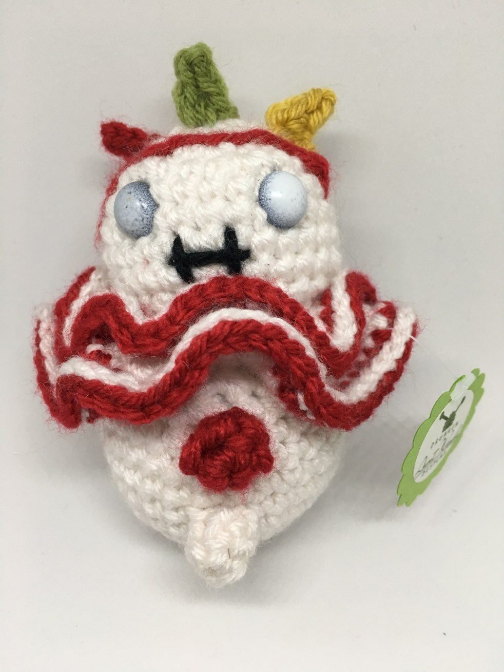 Crocheted Twisty the clown