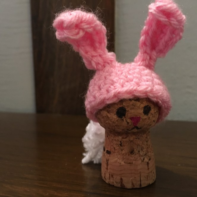 Rabbit Champagne Cork Ornament