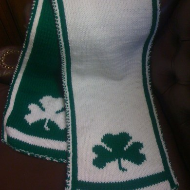 Knitting pattern a shamrock scarf