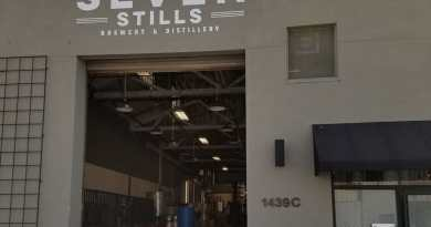 Front of a warehouse building named Seven Stills