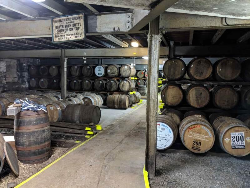 Many barrels aging
