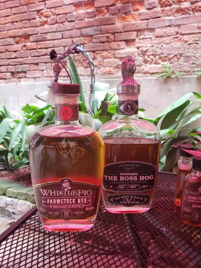 Two bottles of whiskey