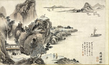 """This image: One of Eight Views of Xiao and Xiang Rivers, 1788. Tani Buncho (Japanese, 1763Ð1840). Section of a handscroll mounted as hanging scroll, ink and color on paper; 29.5 x 49 cm (image). Andrew R. and Martha Holden Jennings Fund 1980.188.3 The Cleveland Museum of Art's major spring 2011 exhibition, """"The Lure of Painted Poetry,"""" explores the influence of Chinese literary paintings on the arts of Japan and Korea. The show introduces Seunghye Sun, the museum's new curator of Japanese and Korean art. Courtesy The Cleveland Museum of Art"""