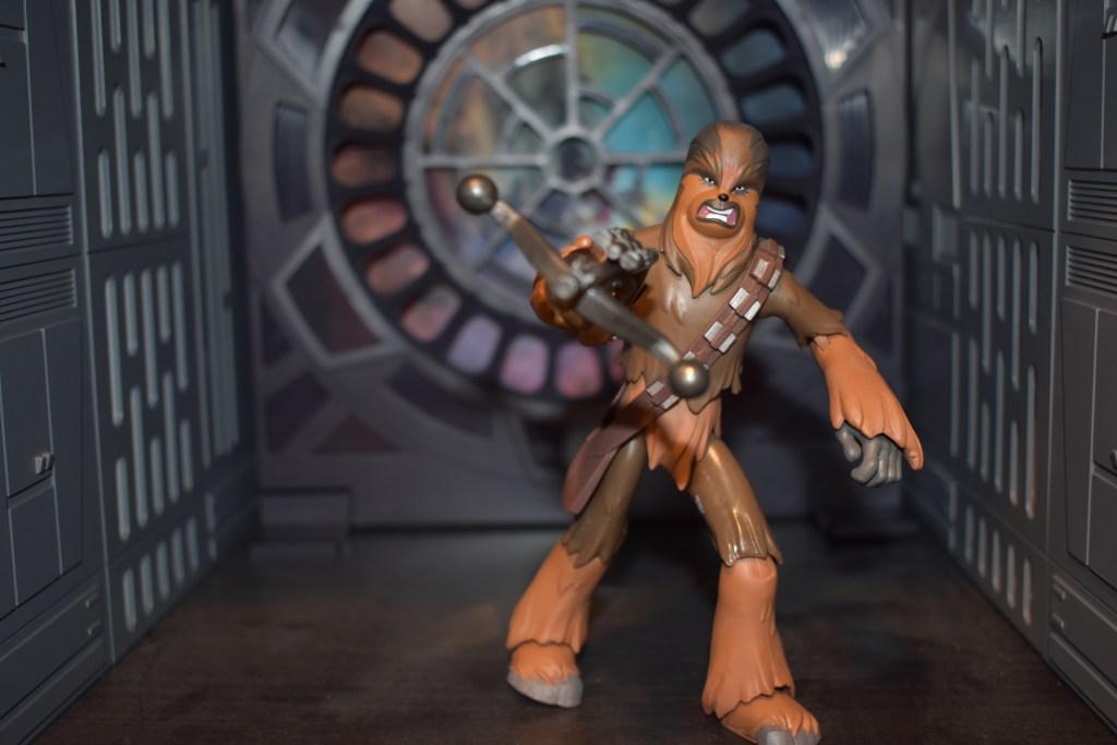 "Star Wars Galaxy Of Adventures Chewbacca 5/"" Action Figure Wookie Slam"