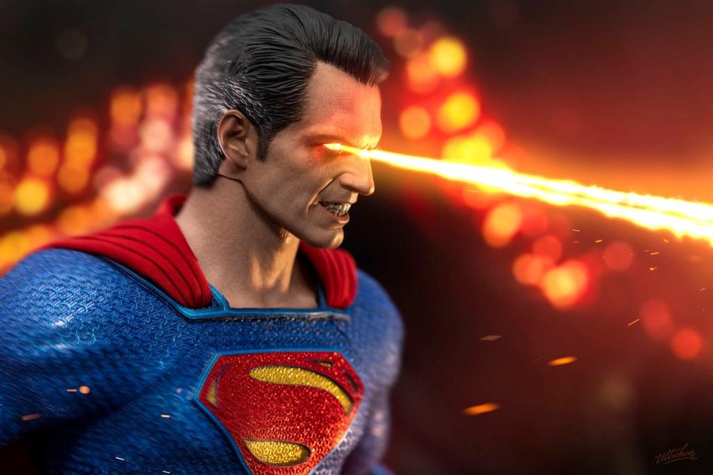 Batman v Superman Red Eye Ver Head Sculpt Model 1//6 Scale Fit 12/'/' Action Figure