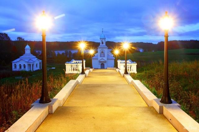 Покрово-Тервенический монастырь. Ночная подсветка