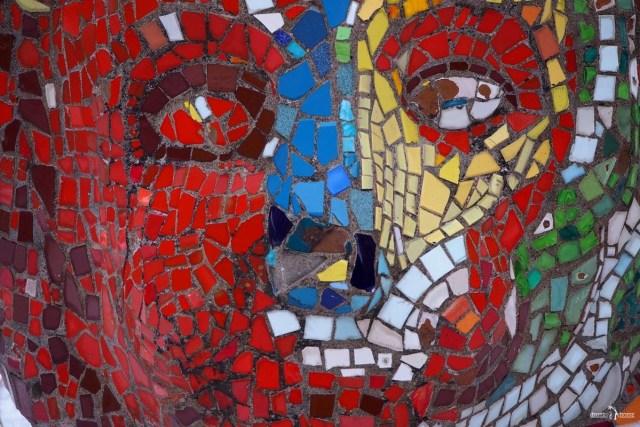 """Мозаичный дворик. Зона тихого отдыха. Мозаичный """"Лев"""""""