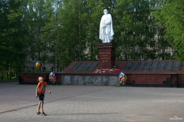 На авто в Вытегру. Памятник погибшим воинам вытегорам во время ВОВ